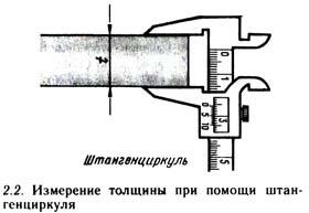 Измерение толщины штангенциркулем