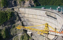 Строительство плотины в Мексике