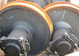 Установка стальных ободов на колесные пары