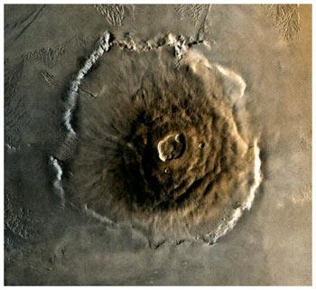 Горы на Марсе фото