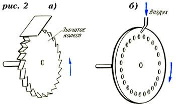 Устройство зубчатого колеса и сирены