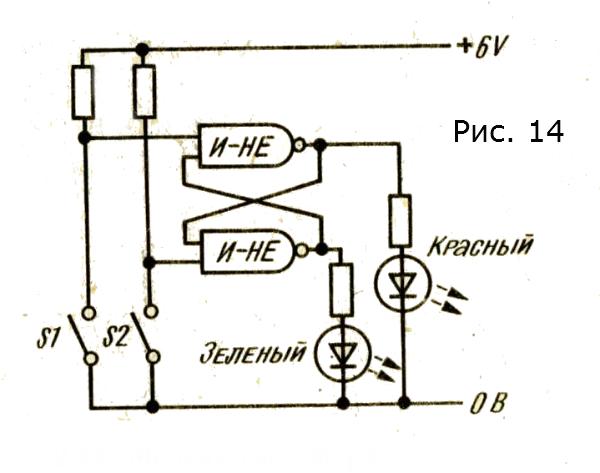 модель светофора с красным